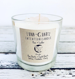 Rose + Leather Intention Candle