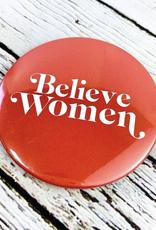 Golden Gems Believe Women Button