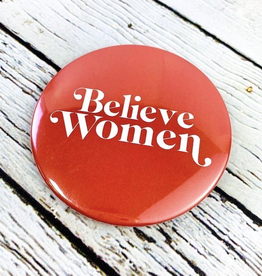 Golden Gems Believe Women Button