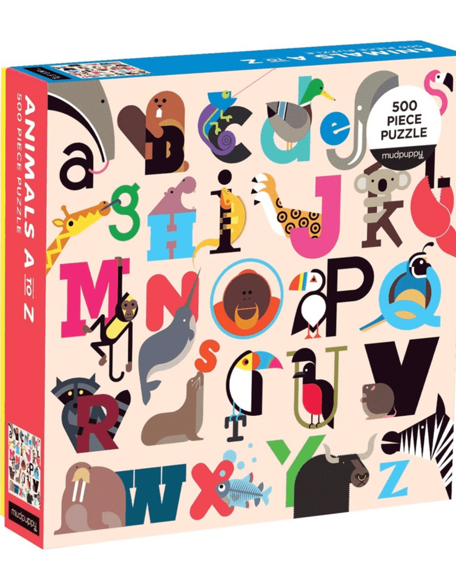 Animals A-Z 500 pc Puzzle