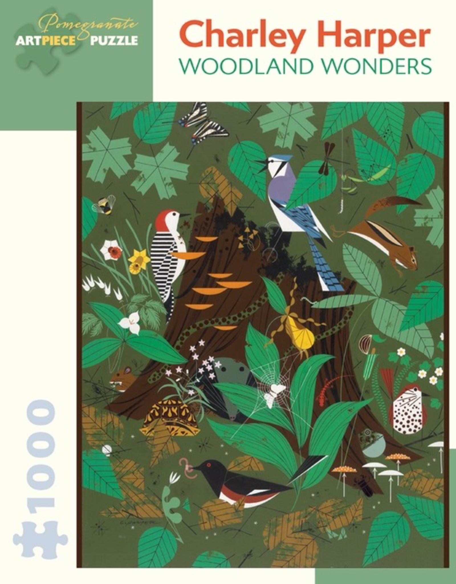 POMEGRANATE Charley Harper: Woodland Wonders 1000-pc Puzzle