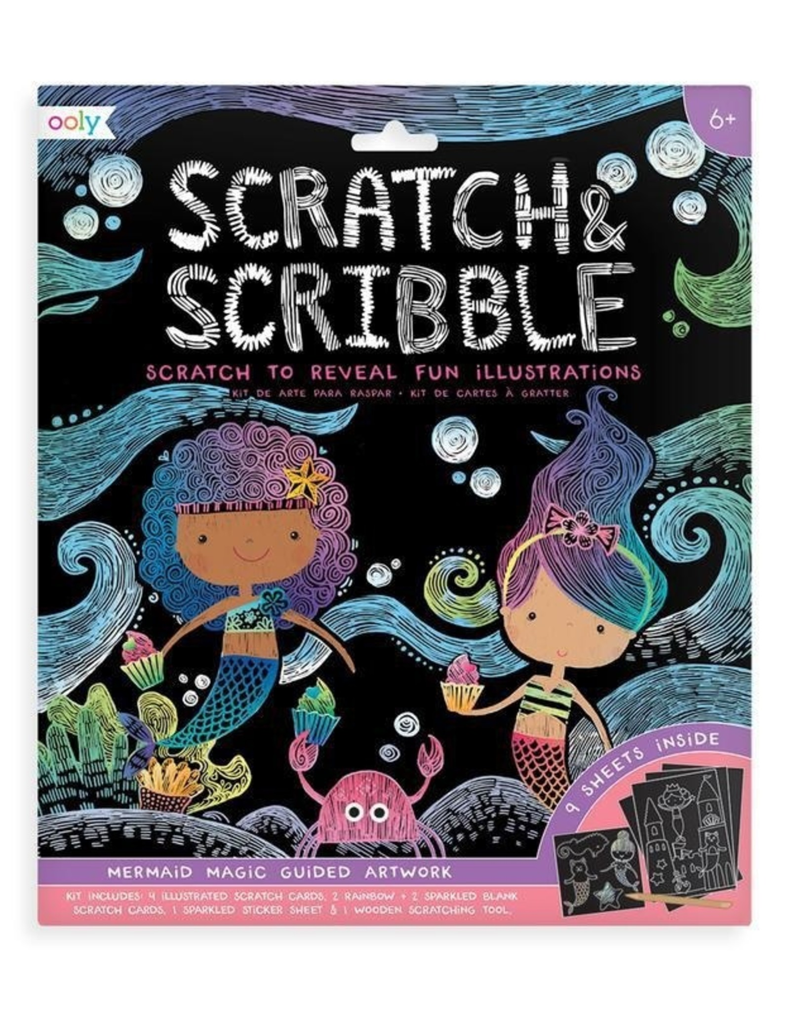 Scratch & Scribble Art Kit: Mermaid Magic