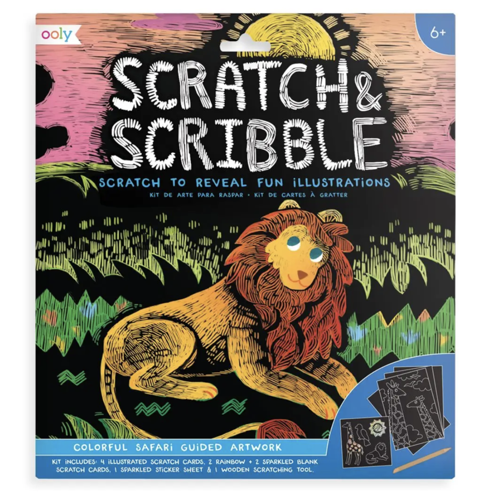 Scratch & Scribble Art Kit: Colorful Safari
