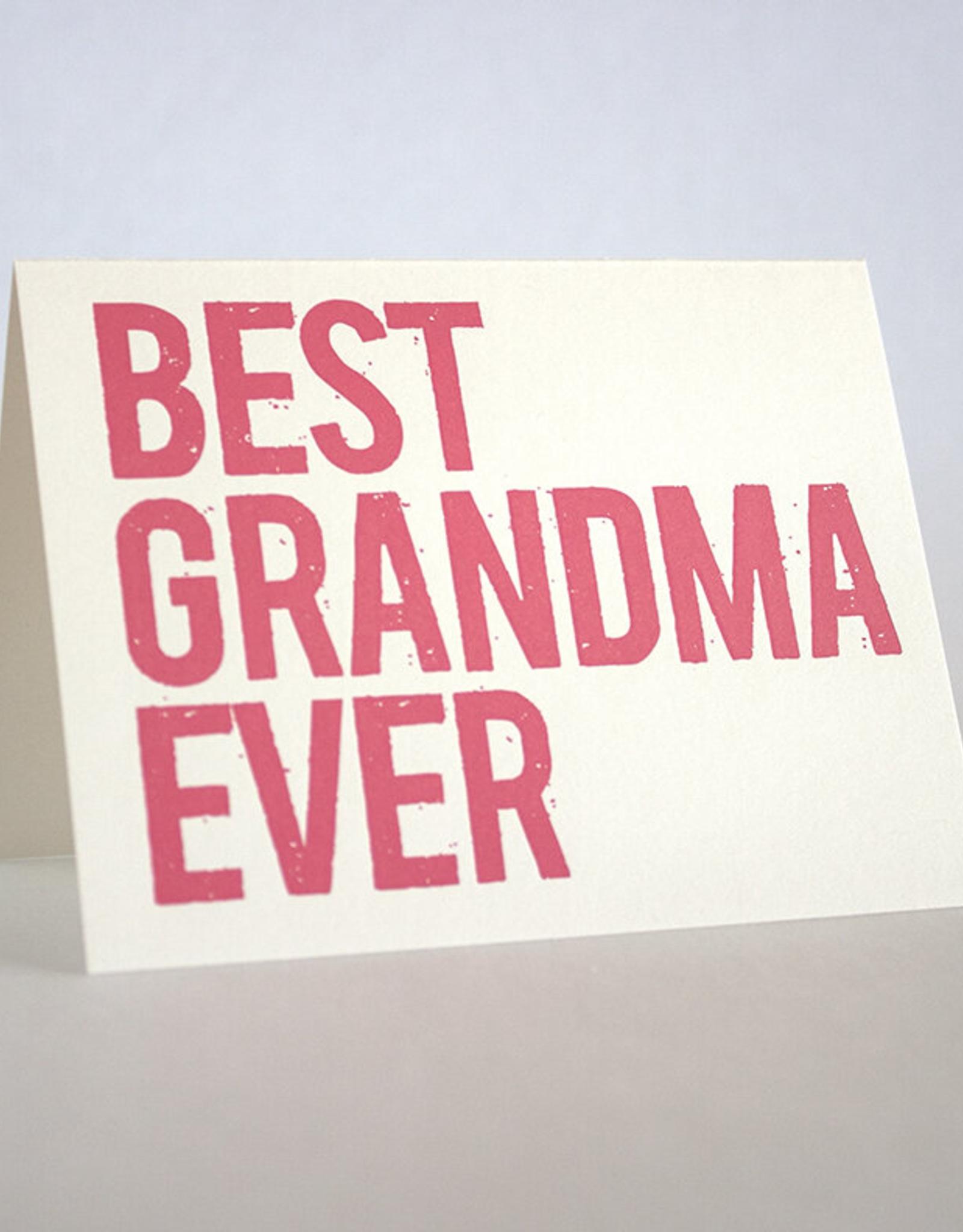 Fugu Fugu Press Best Grandma Ever Card