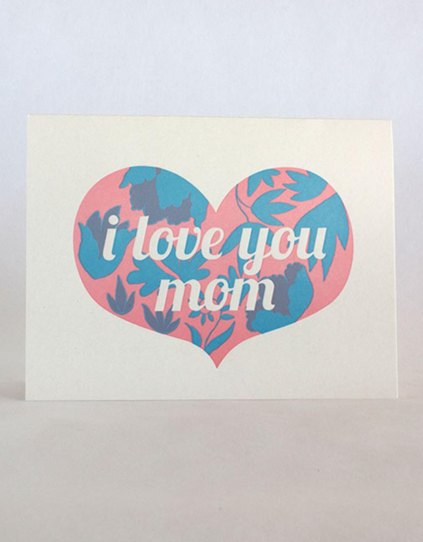 Fugu Fugu Press Mother's Day Heart Floral Card