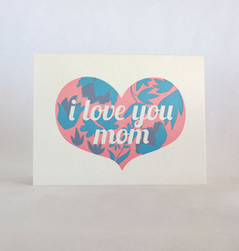 Fugu Fugu Press Mother's Day Heart Floral Card