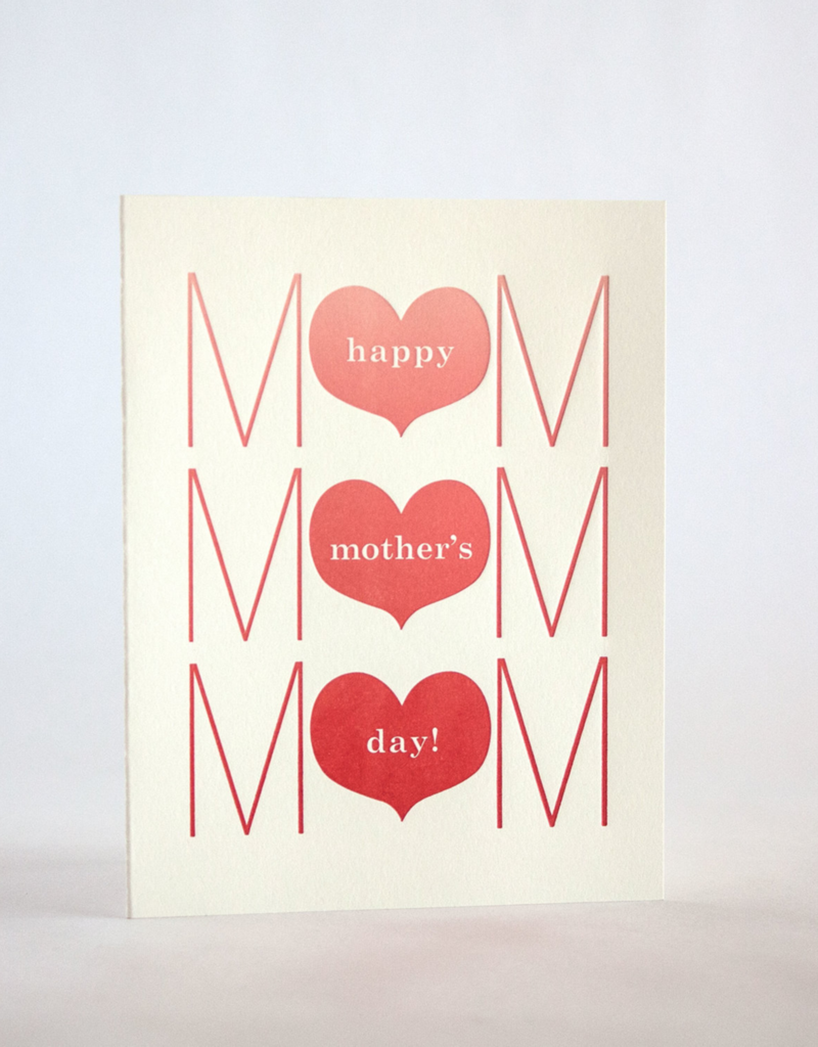 Fugu Fugu Press Mother's Day Three Heart Card