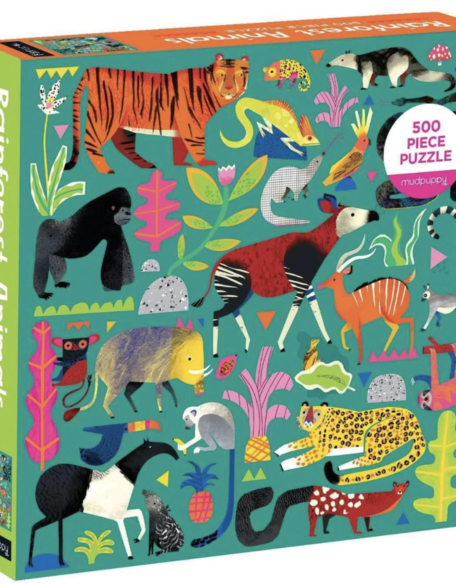 Rainforest Animals 500 Piece Puzzle