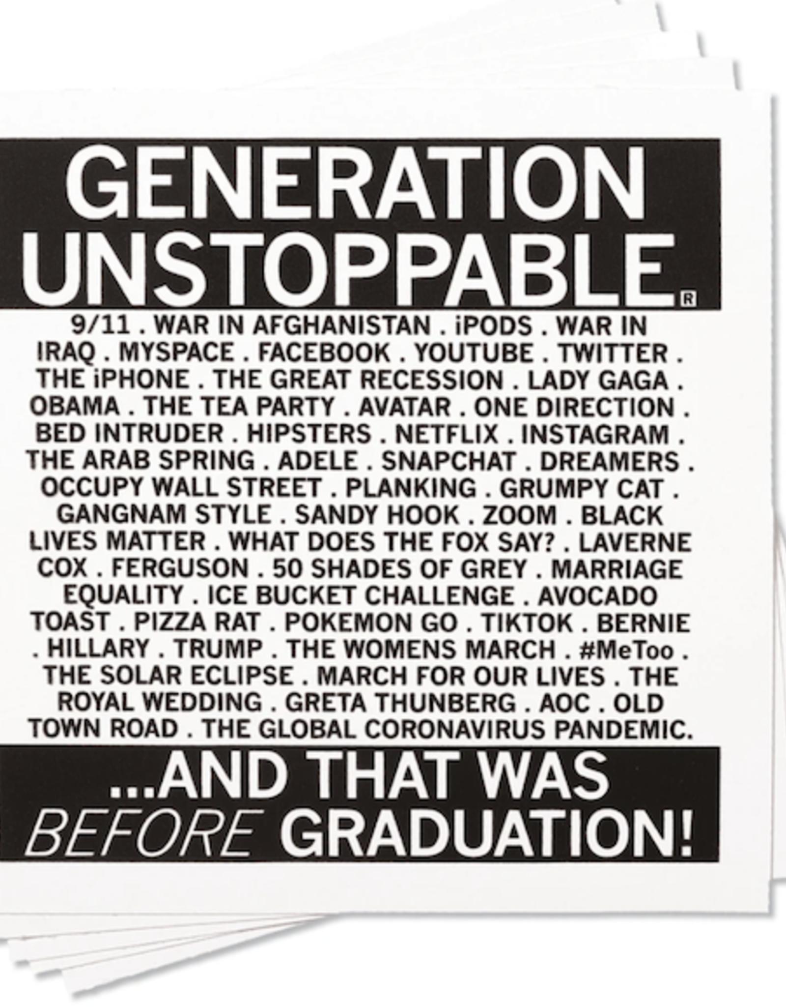 Generation Unstoppable Sticker