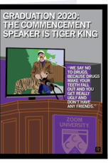 RAYGUN Graduation 2020: Tiger King Commencement Card