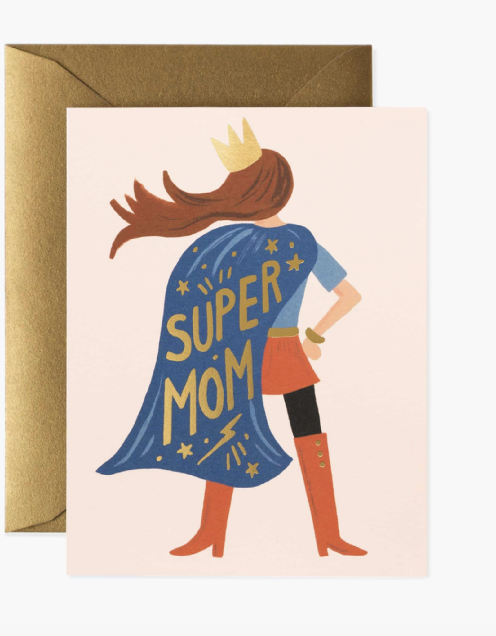 Rifle Paper Co Super Mom Pink Card