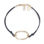 Handmade 14k Goldfill Oval on Royal Blue Cord Bracelet