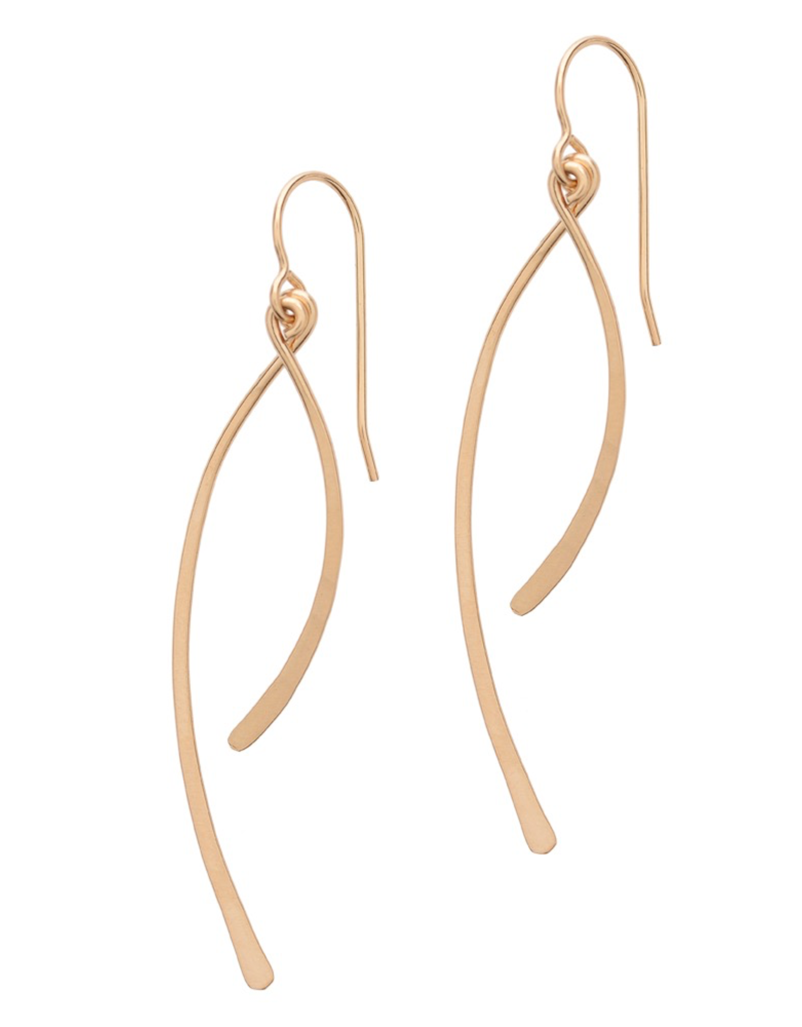 Handmade Earrings with 14k goldfill curve bar drops