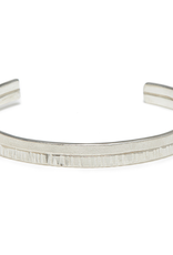 Handmade Etched and textured Sterling Silver Cuff Bracelet