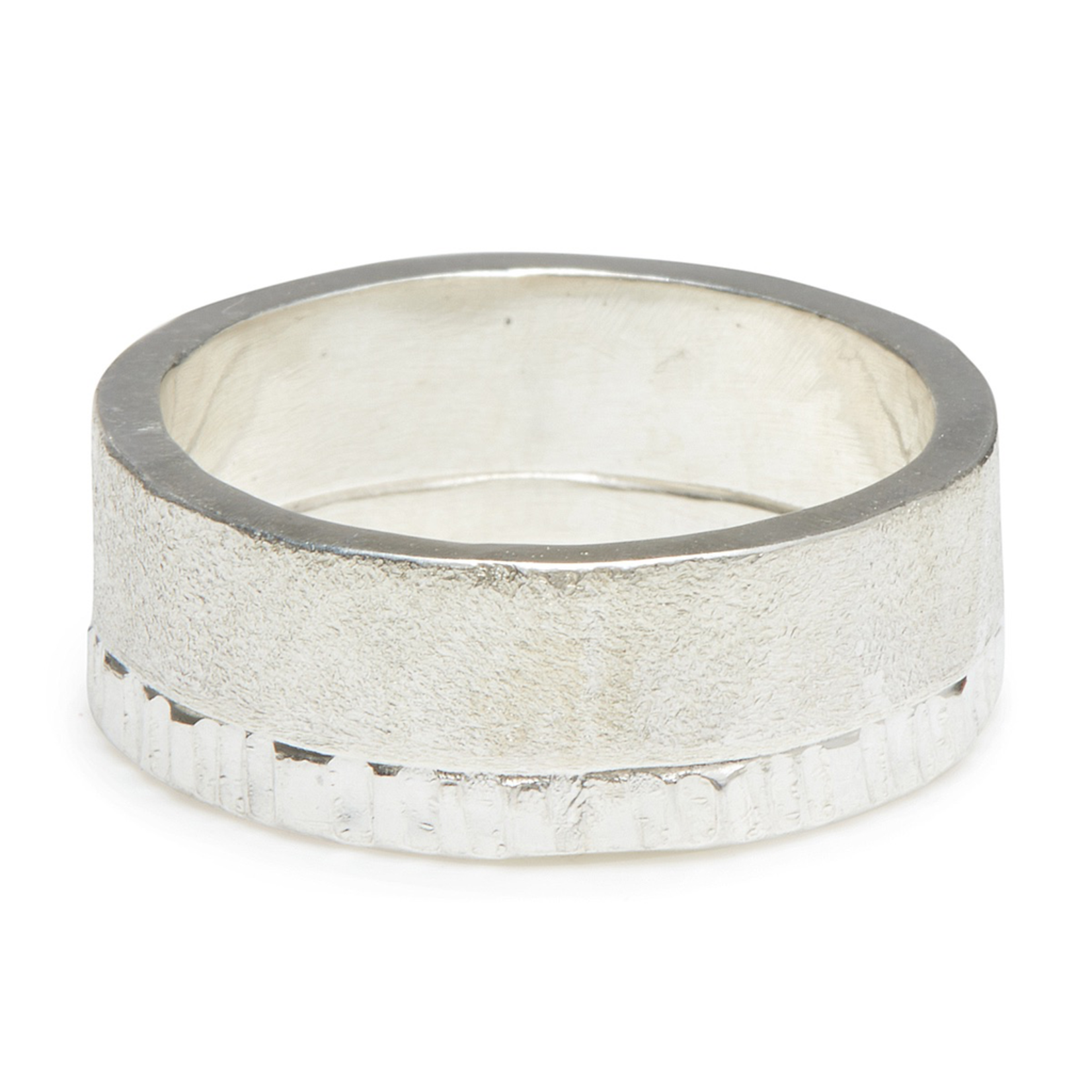 Handmade Textured Sterling Silver Ring