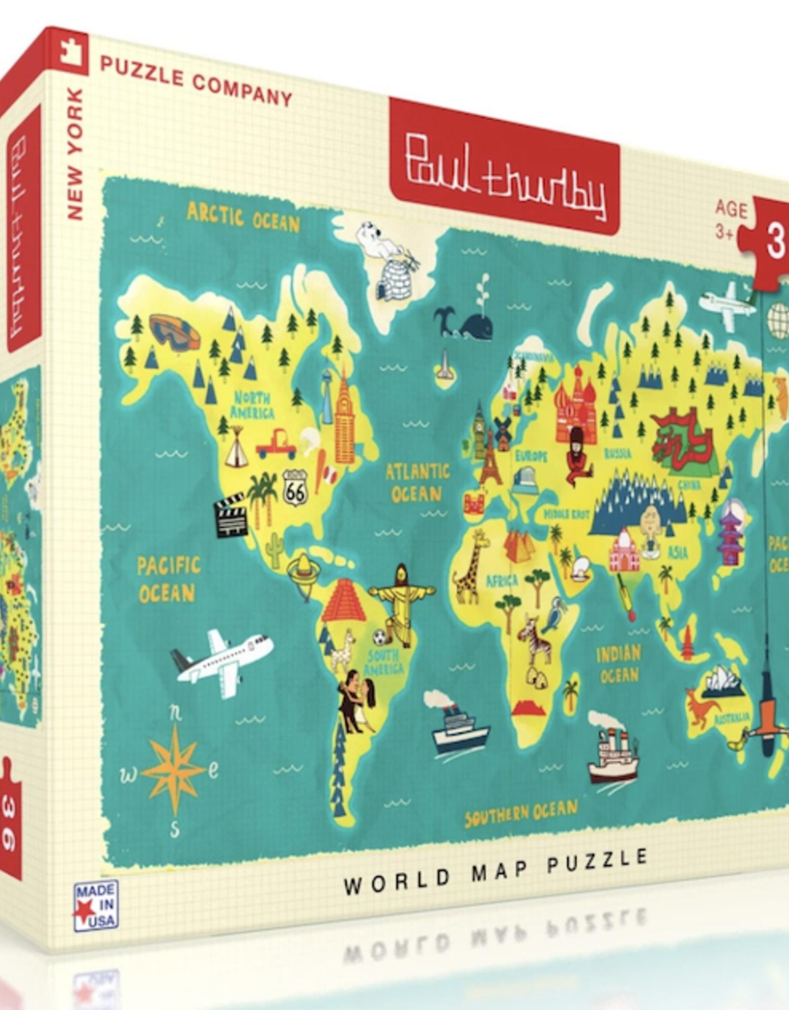 World Map 36 Piece Puzzle
