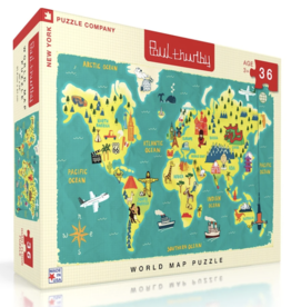World Map 36 Piece Puzzle