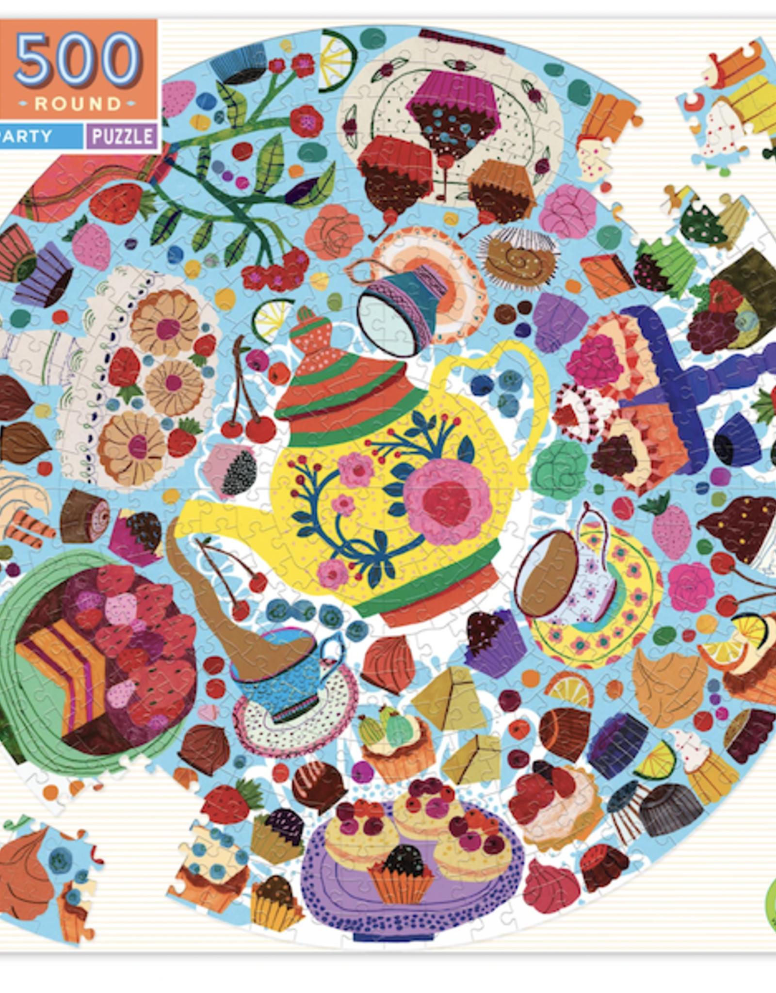 Tea Party Round 500 Piece Puzzle