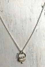 Handmade Silver Tiny Purse Design Necklace