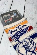 BlueQ Your Team Sucks Men's Crew Socks