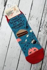 BlueQ Inner Demons Do The Darndest Things Women's Ankle Socks