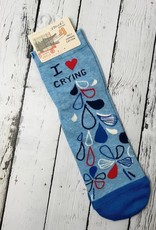 BlueQ I Heart Crying Women's Ankle Socks