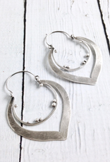 Handmade Matte Sterling Silver Lotus shaped Earrings by Julia Britell Designs