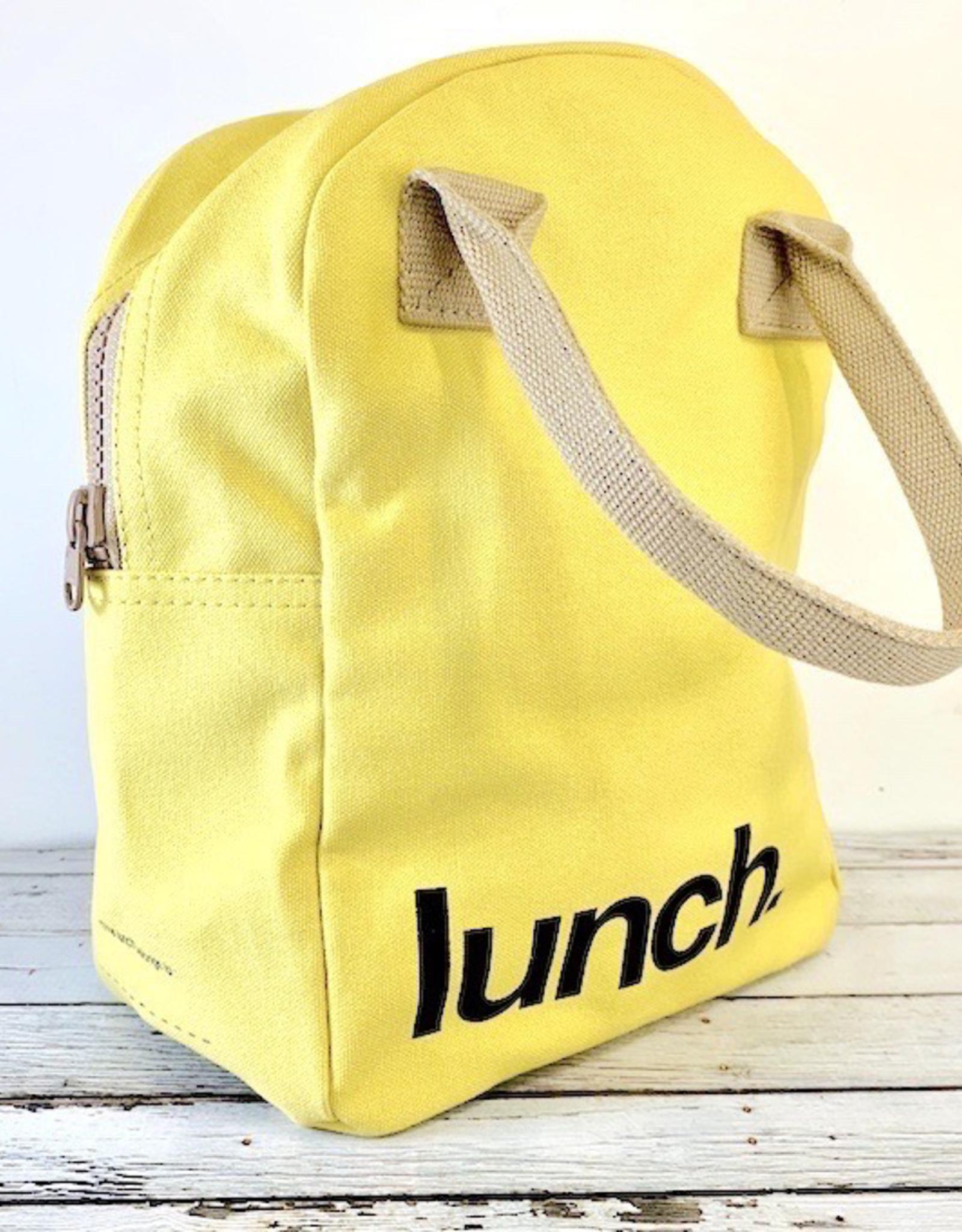 Yellow Lunch Zipper Tote