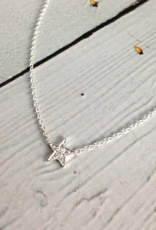 Sterling Silver CZ Pave Star Necklace