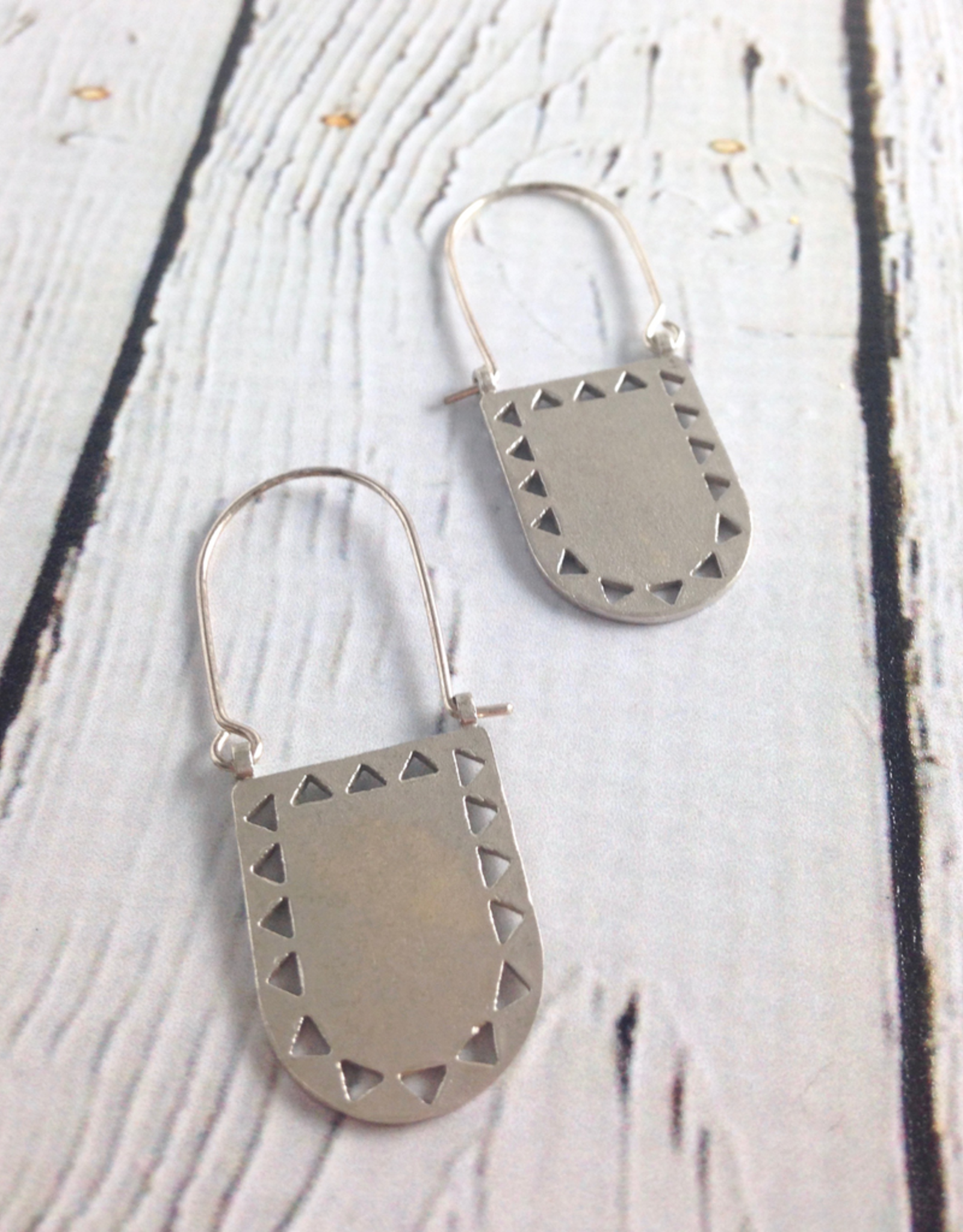 Silver Portal Earrings by Molly M. Designs