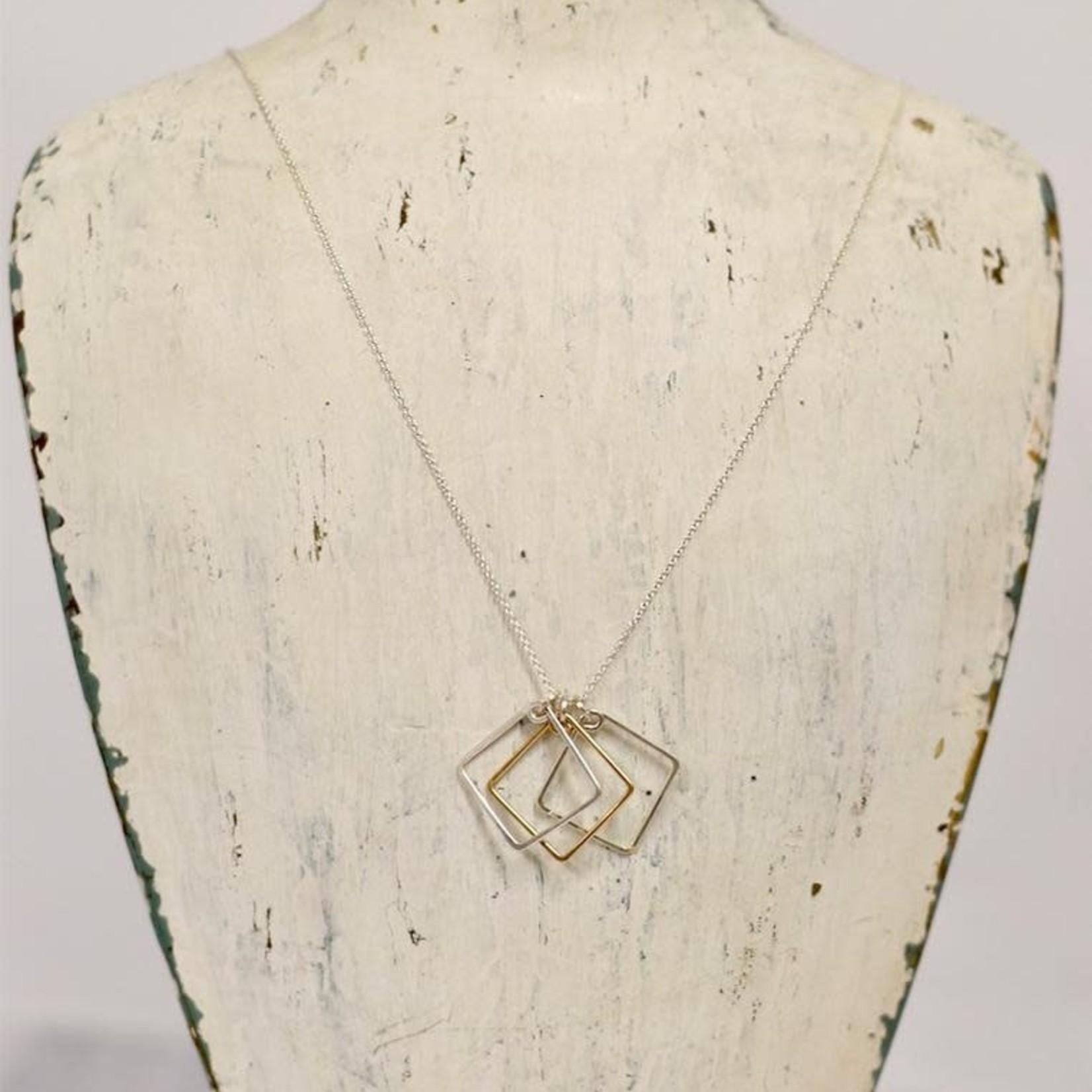 "Handmade Silver Frolic Necklace, 18"""