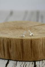 Sterling Silver Balloon Giraffe Stud Earrings