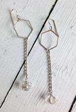 Handmade Sterling Silver Hive Earrings