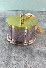 Jolly 12oz Glass Tinsel Candle