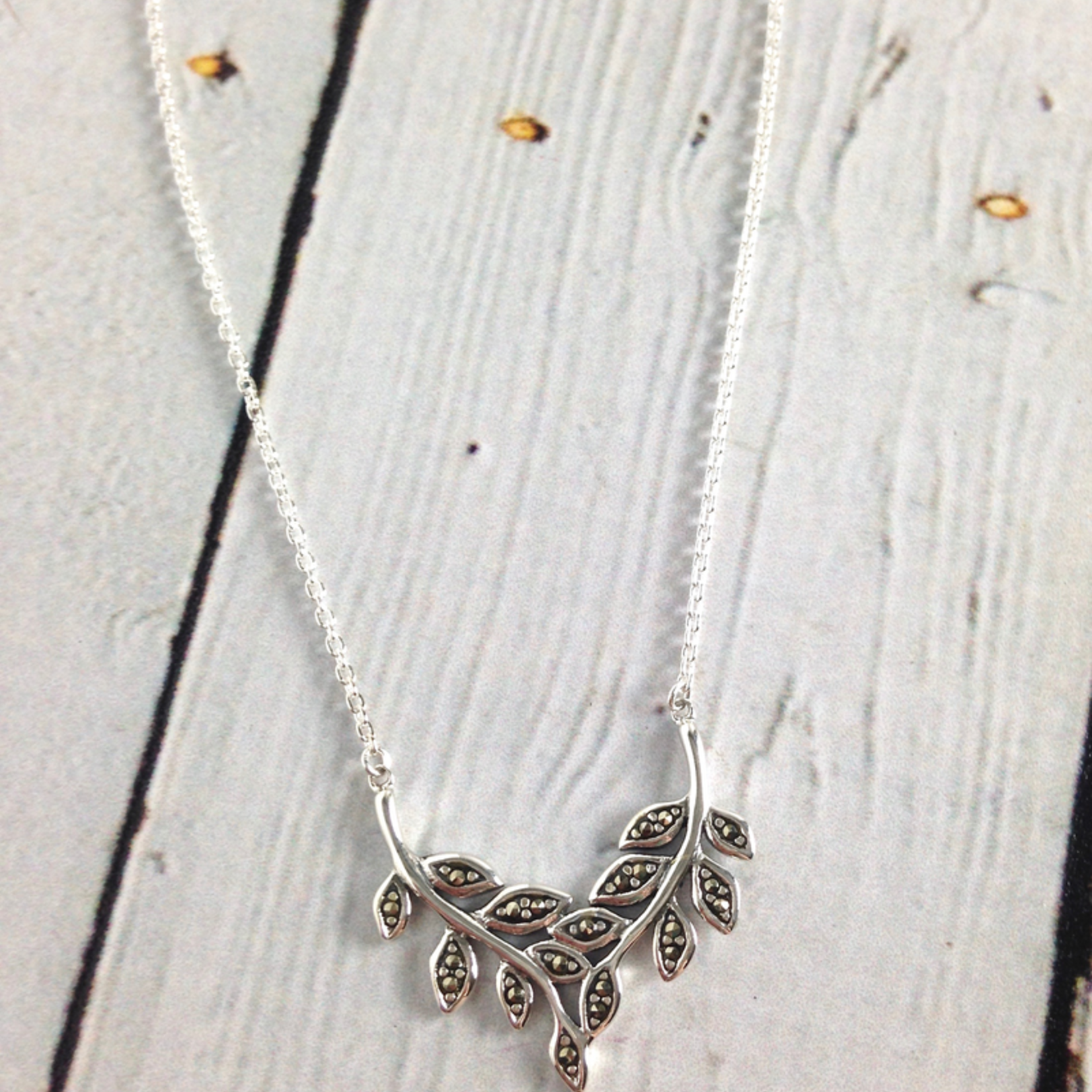 Sterling Silver and Marcasite Branches necklace