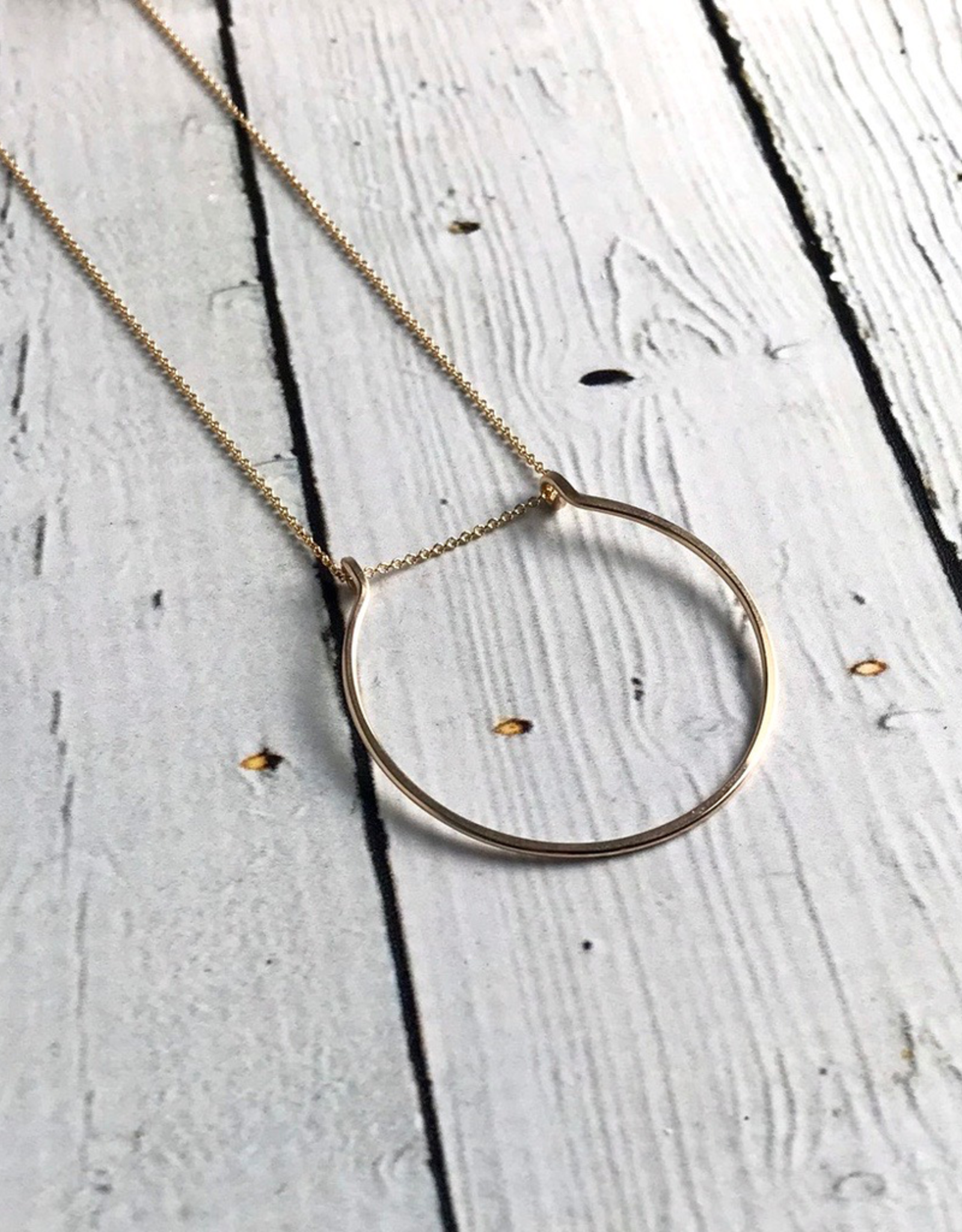 "Gold Filled Gather Necklace (24"")"