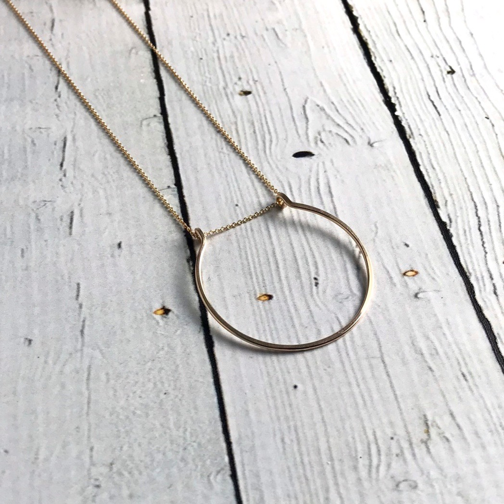 """Gold Filled Gather Necklace (24"""")"""