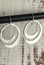 Handmade Silver Semi Spiral Earrings