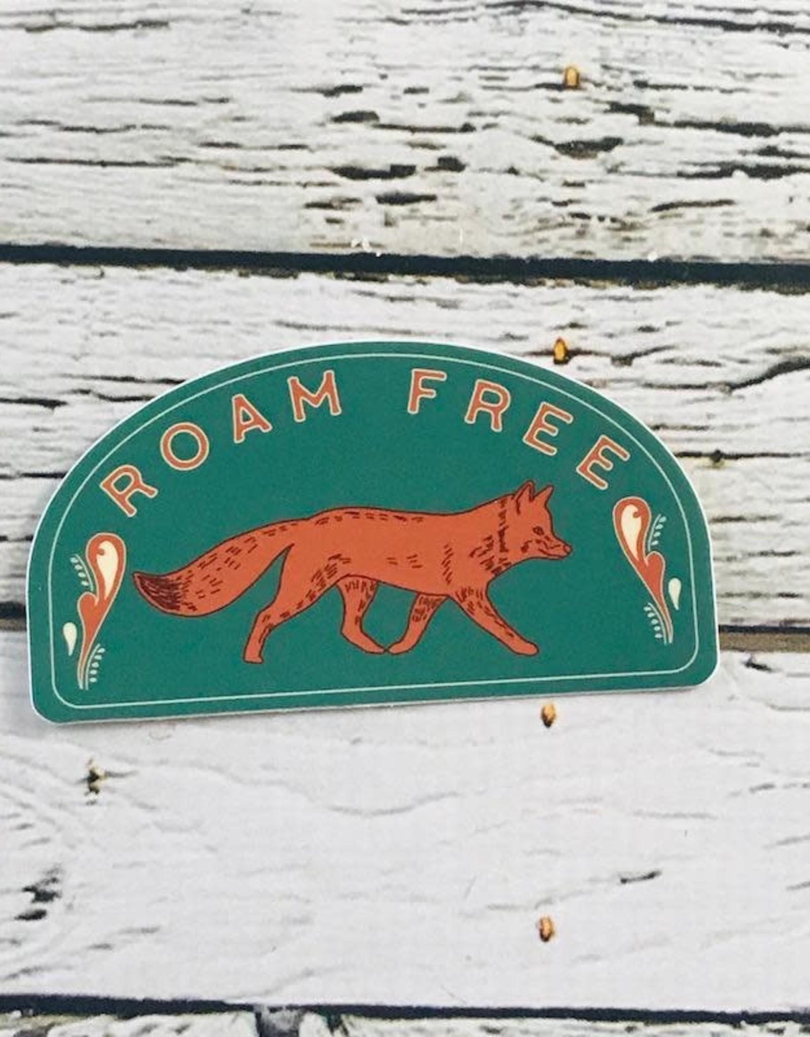 Roam Free Fox Sticker