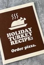 Turkey Recipe Holiday Dishcloth