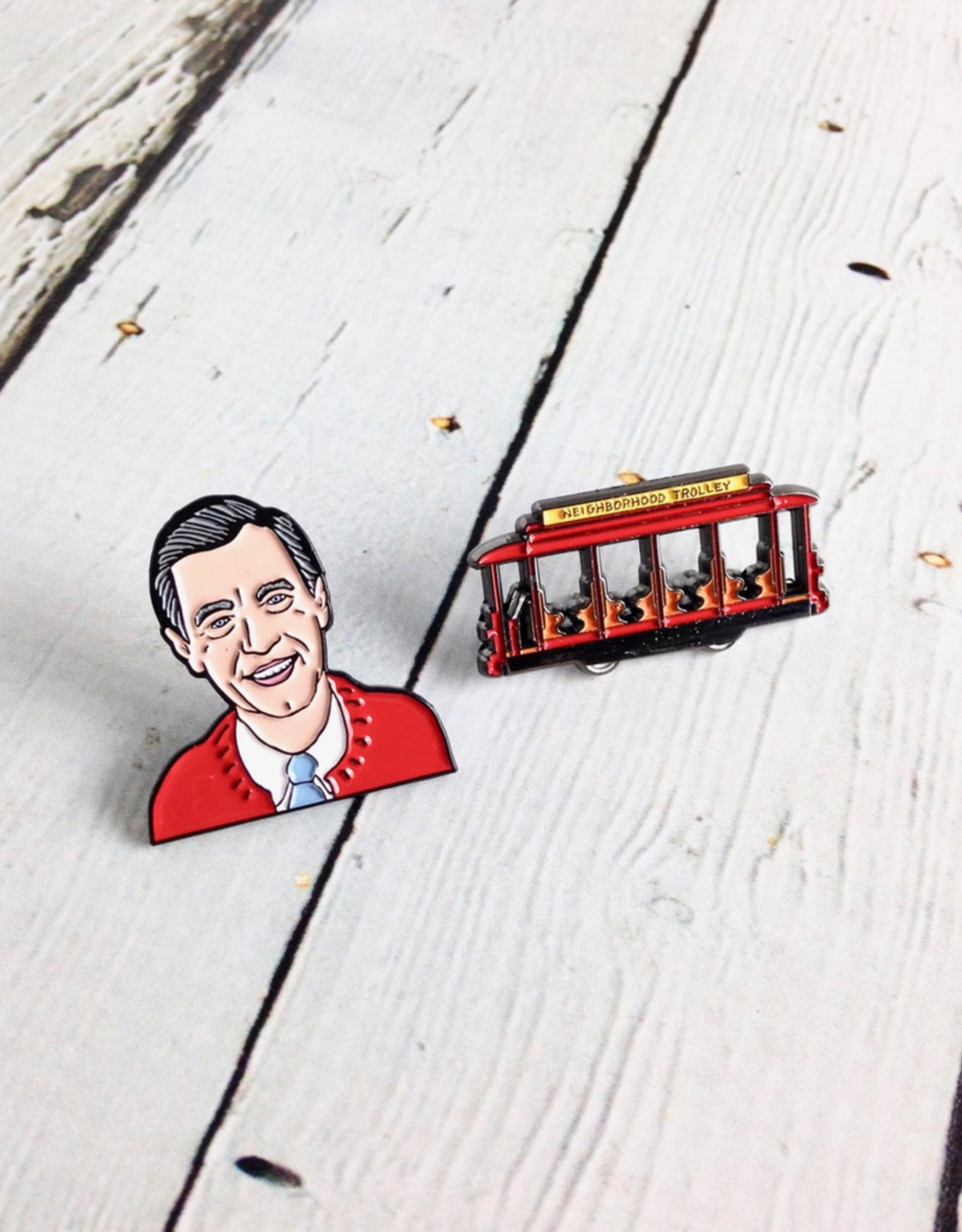 UNEMPLOYED Mister Rogers Enamel Pin