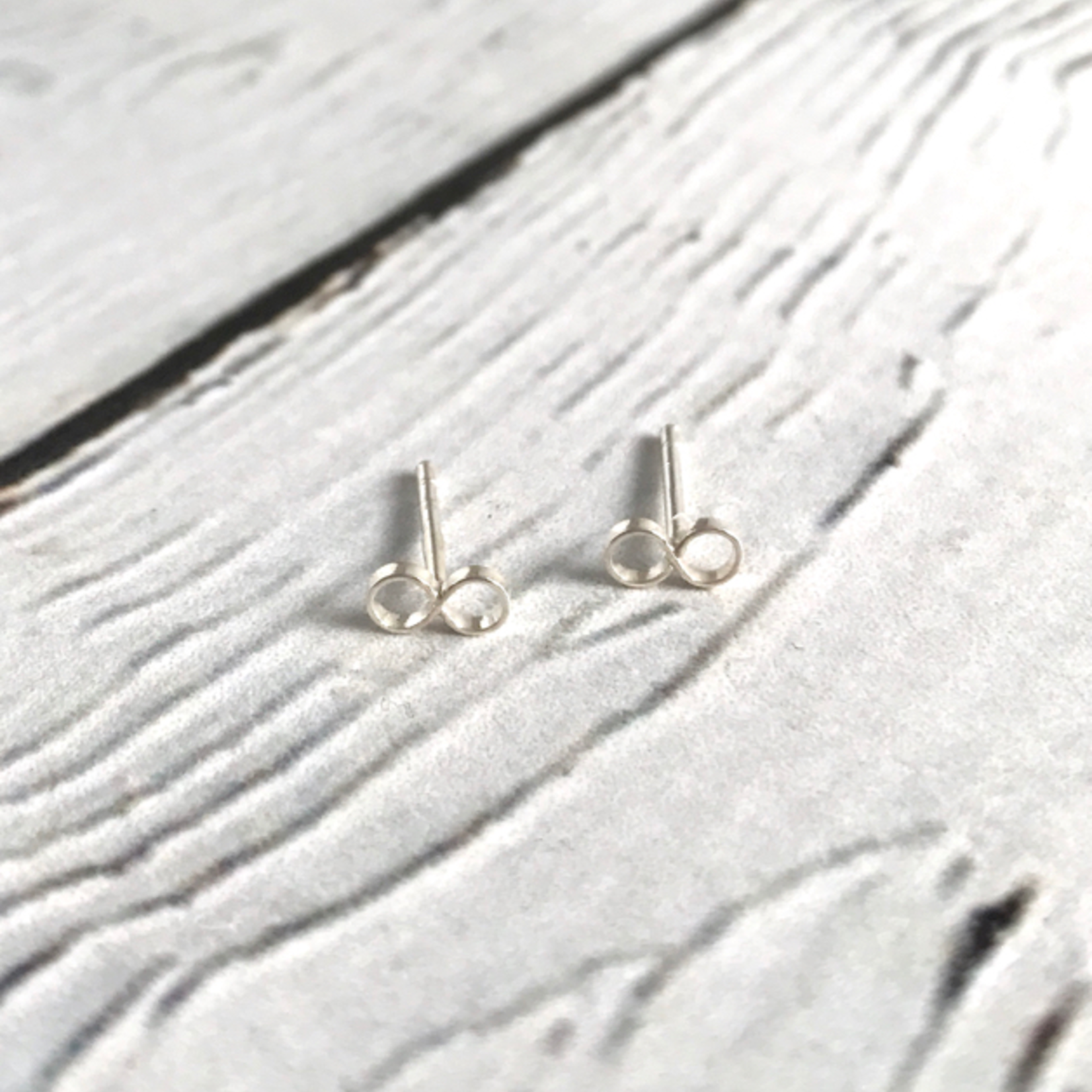 Tiny Infinity Stud Earrings, Sterling Silver