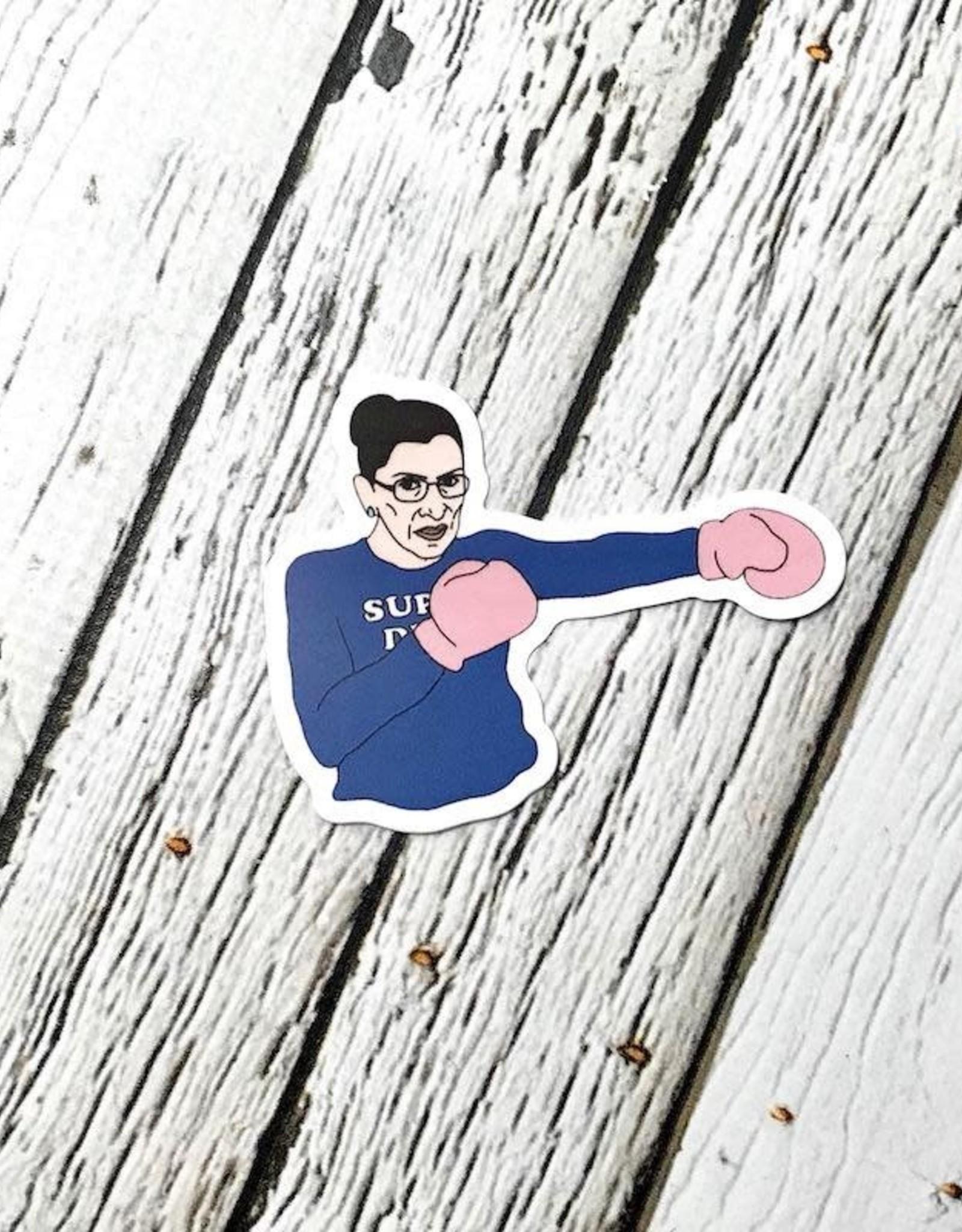 Ruth Bader Ginsburg Boxing Sticker