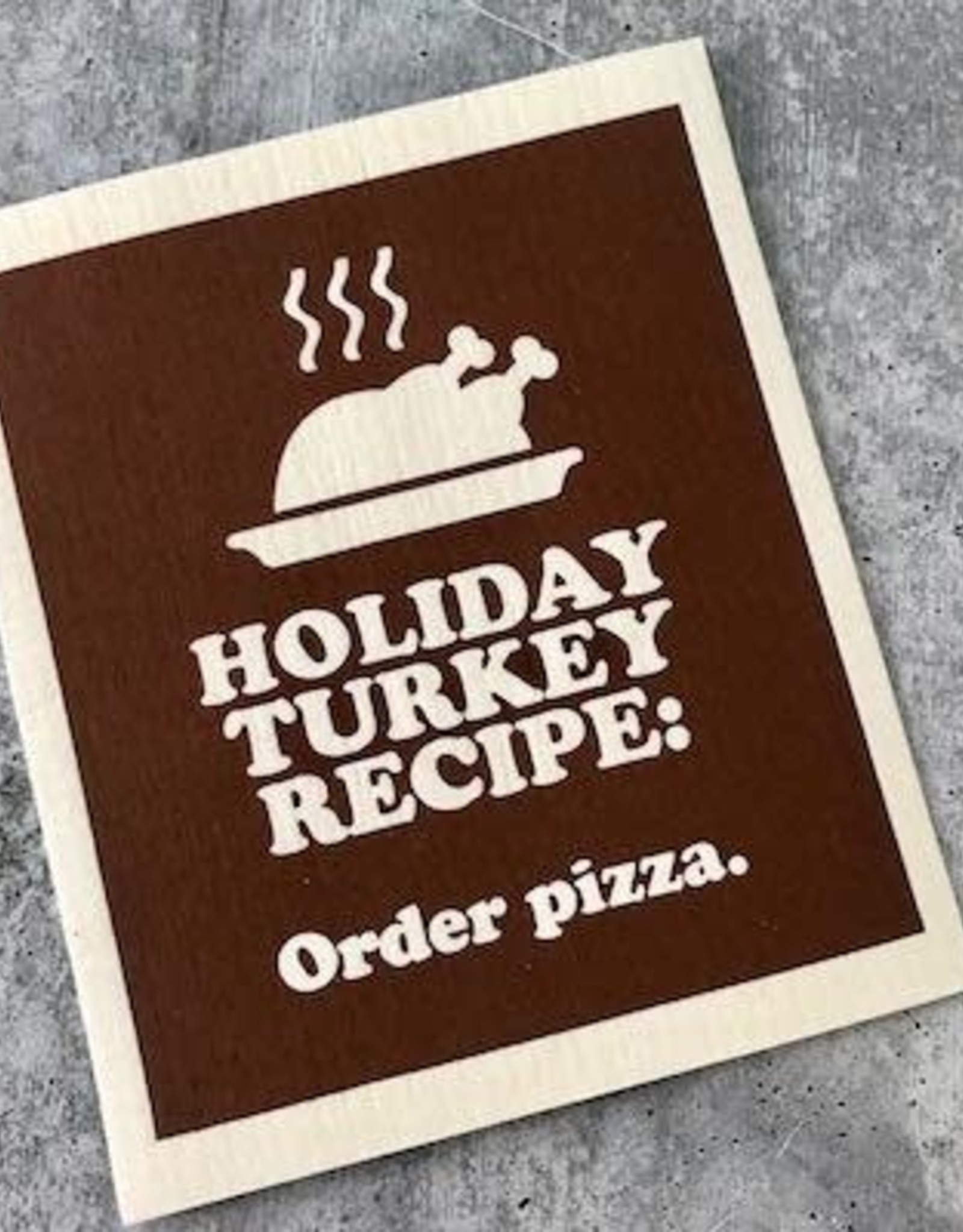 Boldfaced Goods Turkey Recipe Holiday Dishcloth