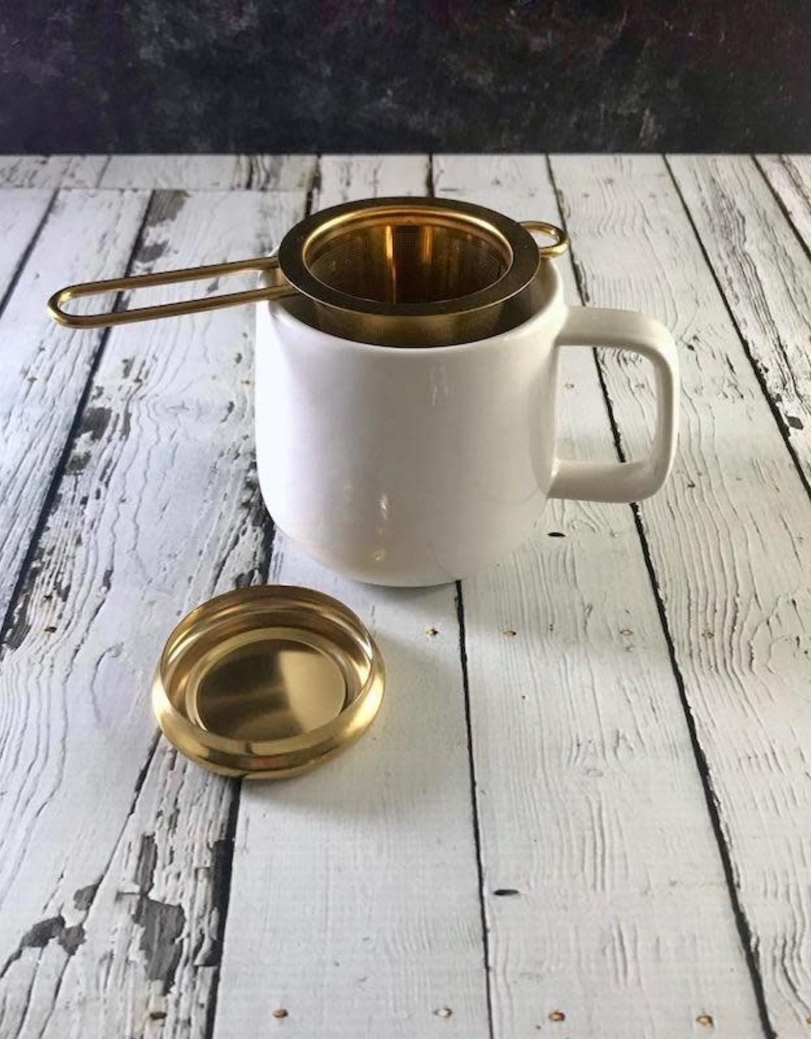 Terra Luna Gold Stainless Steel Tea Infuser