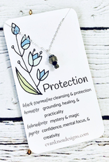 Handmade Silver Necklace with protection gemstones