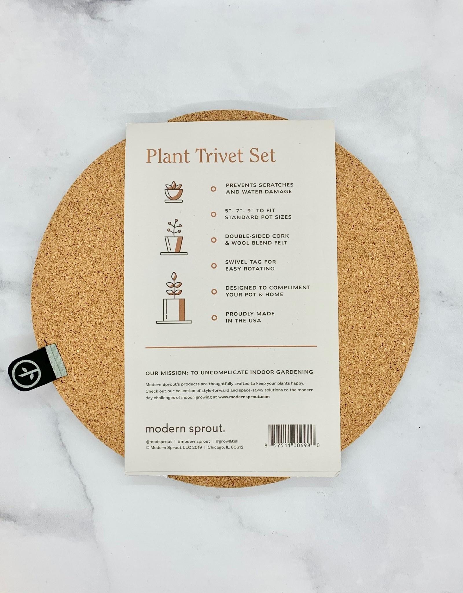 Plant Trivet Set of 3