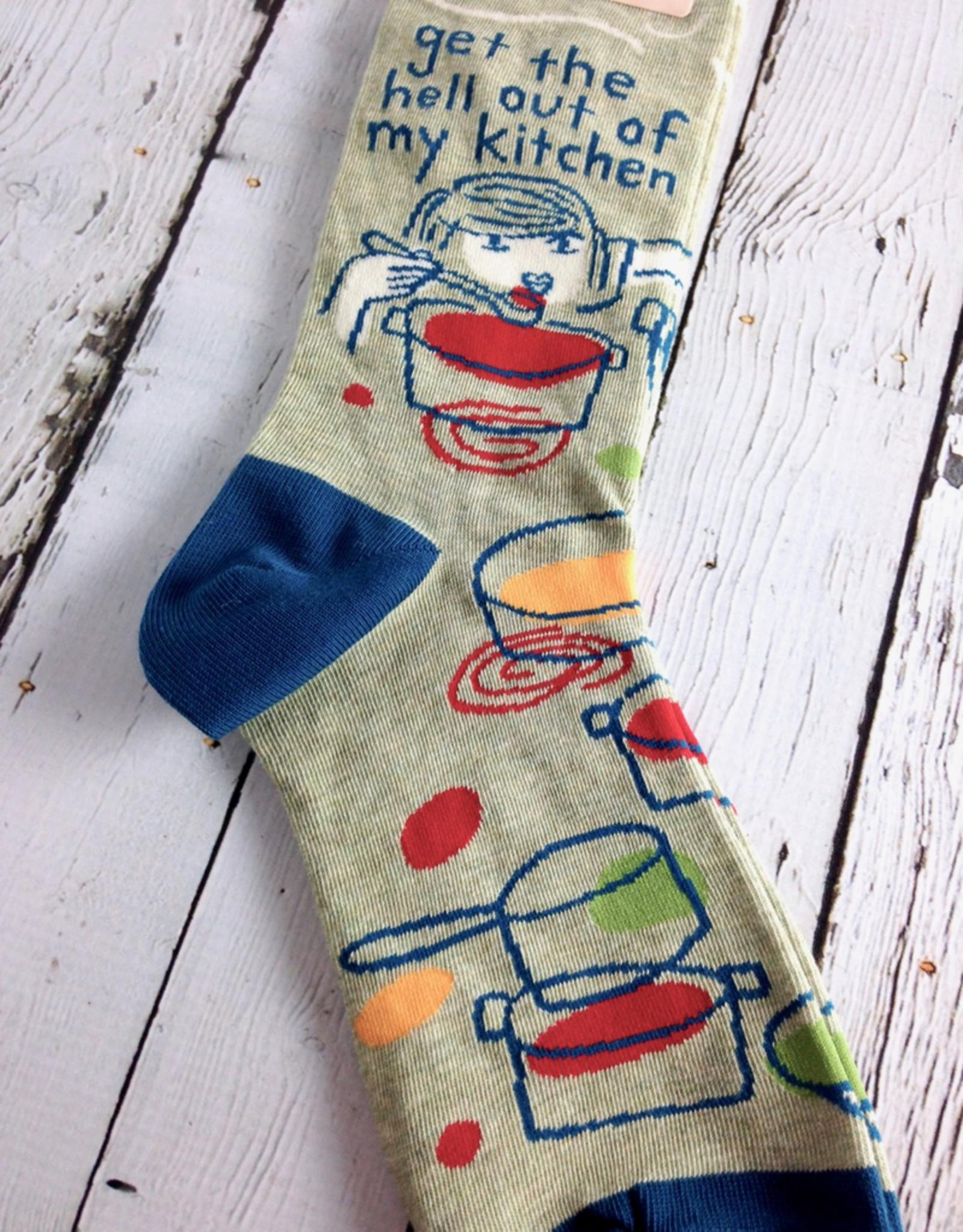 BlueQ Get The Hell Out Women's Crew Socks