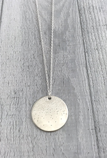 "Handmade Diamond Dusted | 22 & 24"" sterling silver large medallion"