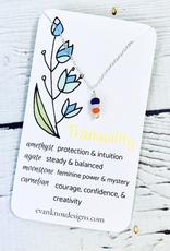 Handmade Silver Necklace with tranquility gemstones